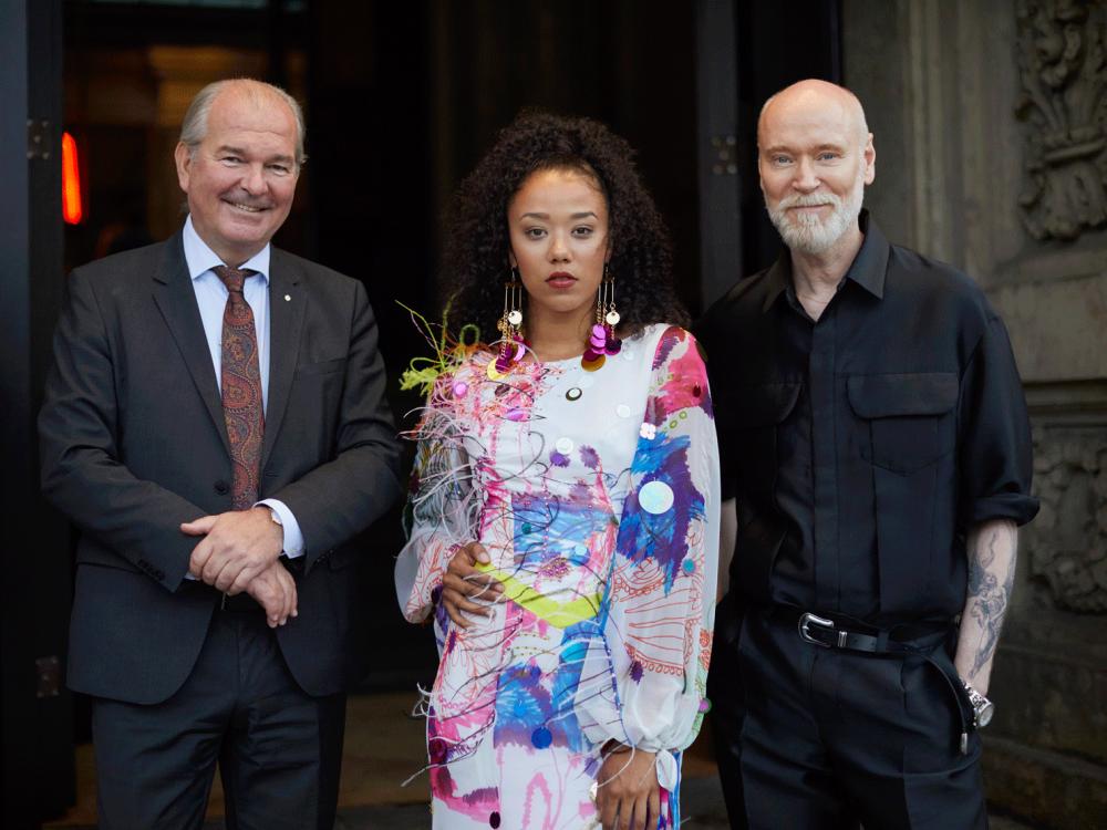 Schwedischer Botschafter Per Thöresson, Model und Lars Wallin