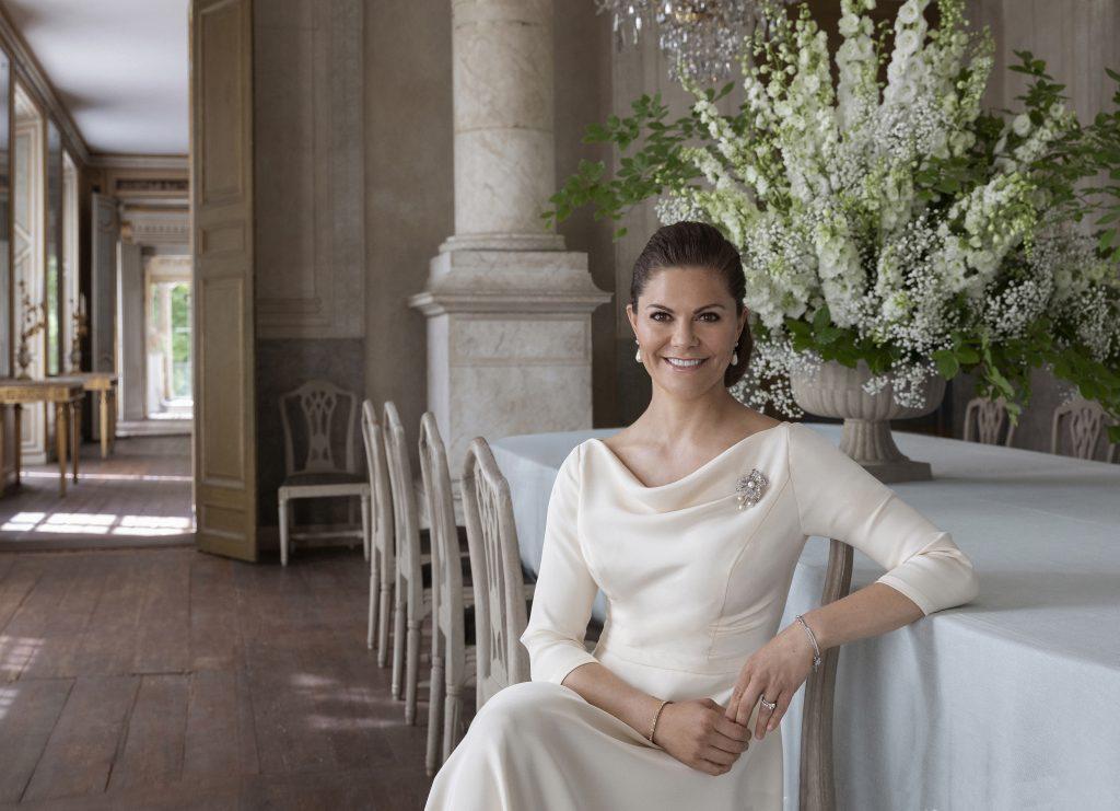 Portrait von Kronprinzessin Victoria zum 10jährigen Hochzeitstag mit Prinz Daniel